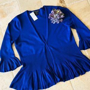 NWT Beautiful Royal Blue Bell Sleeve Cardigan